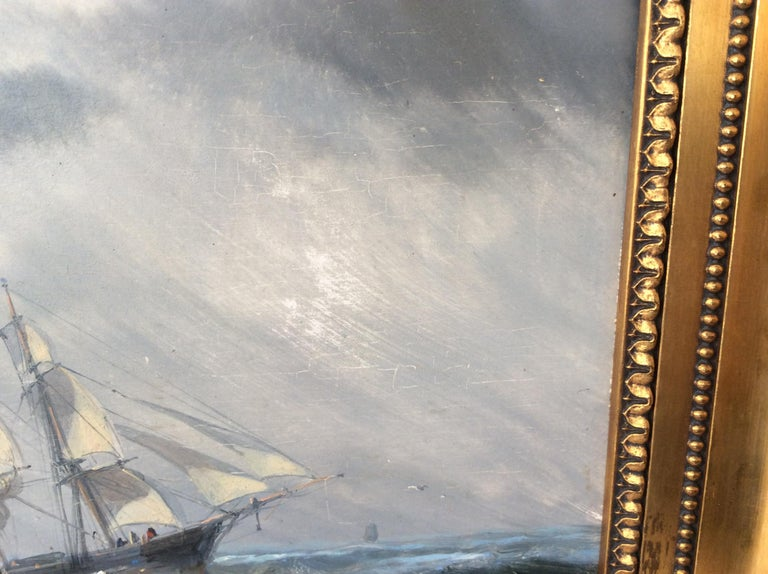 Painting Marine style of Carl Frederik Sørensen For Sale 1