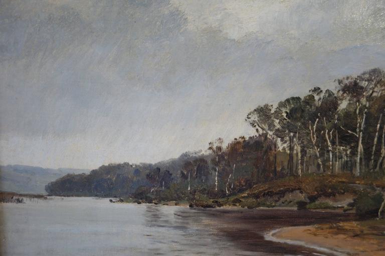 Other Janus La Cour, Coastal Landscape in October by Ringholm, 1873 For Sale
