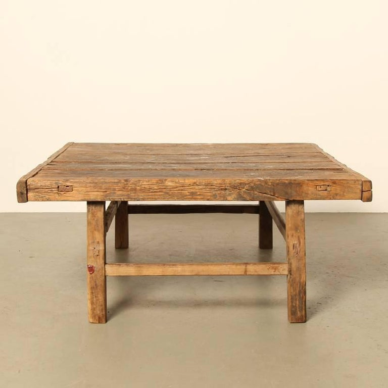 Antique 19th century chinese workers table 39 for use as for Antique chinese tables for sale