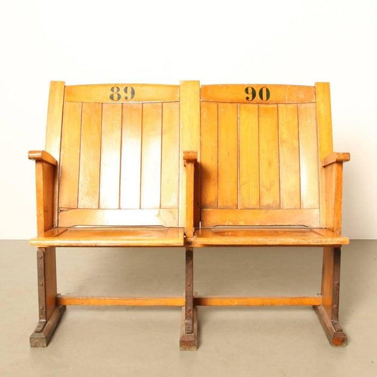 Cinema Or Stadium Seats Of Wood At 1stdibs