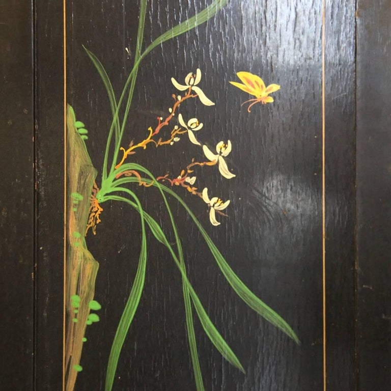 Large Chinese Room Divider or Folding Screen 9