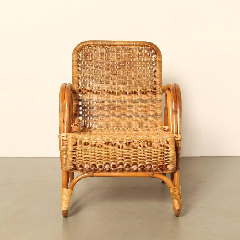 erich dieckmann rattan armchair for sale at 1stdibs. Black Bedroom Furniture Sets. Home Design Ideas