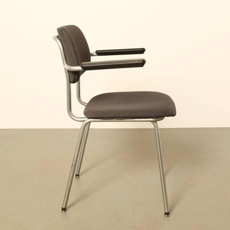 Gispen Bent Chrome Tube Chair 1236 For Sale At 1stdibs