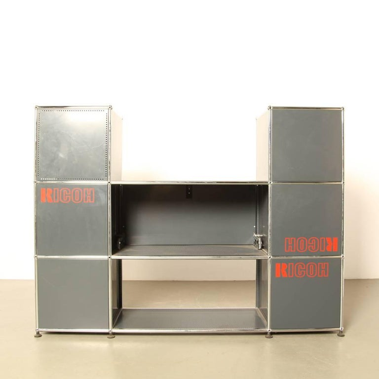 usm haller system shelving and storage unit for sale at. Black Bedroom Furniture Sets. Home Design Ideas