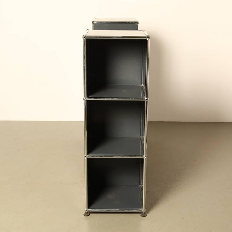 usm haller system shelving and storage unit for sale at 1stdibs. Black Bedroom Furniture Sets. Home Design Ideas
