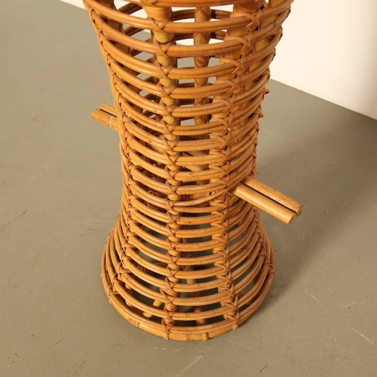 Rattan And Bamboe Bar Stool At 1stdibs