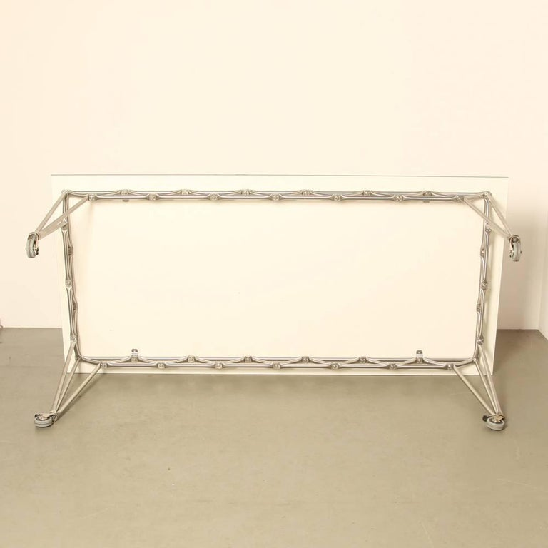 bridge m table in steel line by system 180 berlin at 1stdibs. Black Bedroom Furniture Sets. Home Design Ideas