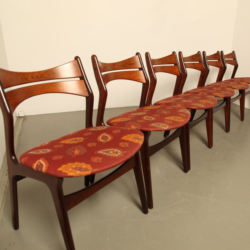 Erik Buck Model 310 Dining Room Chairs Set of Six For Sale at 1stdibs