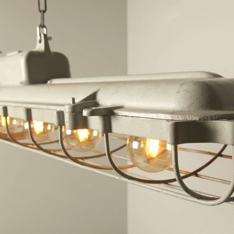 Industrial German Pendant Lamp, Extra Large For Sale At
