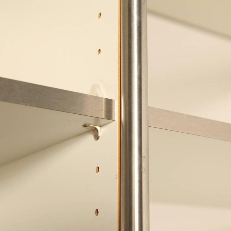 regal shelving unit steel line by system 180 at 1stdibs. Black Bedroom Furniture Sets. Home Design Ideas