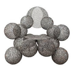 Modern Ball Metal Armchair by Anacleto Spazzapan, 2009, Italy