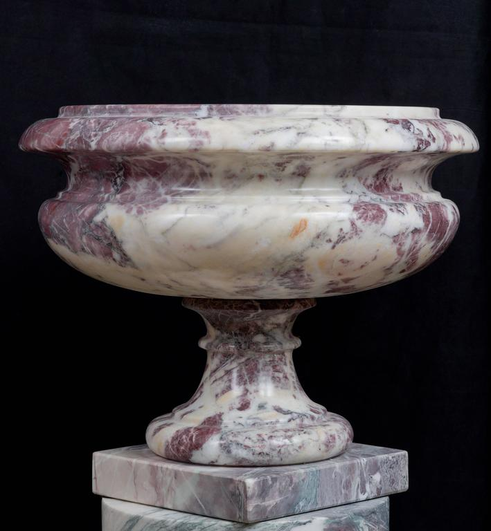 Italian Marble Inlay Bowl : Italian marble vase in neoclassical style for sale at stdibs
