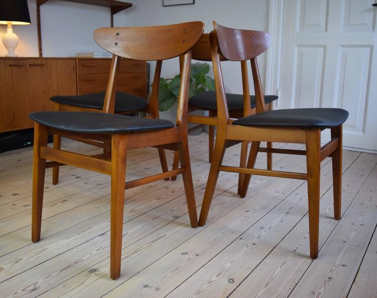 Awesome Danish Teak And Beech 210 Farstrup Dining Chairs At 1Stdibs Squirreltailoven Fun Painted Chair Ideas Images Squirreltailovenorg