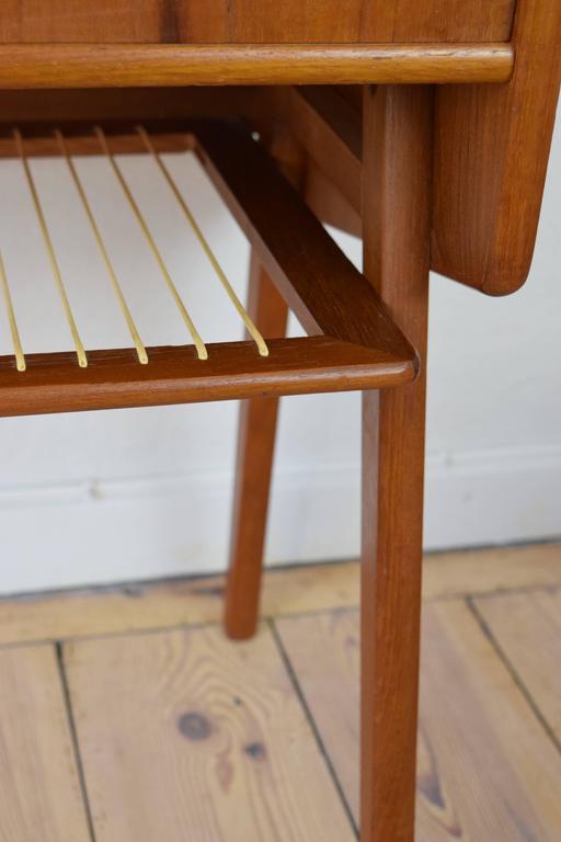 Danish Mid Century Teak Entry Table Or Nightstand. This Item Features Solid  Teak Legs
