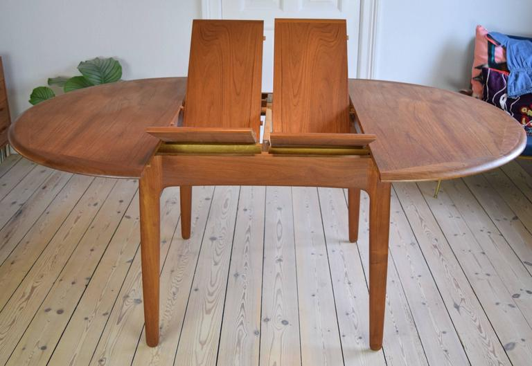 Mid-Century Modern Teak Dining Table by Svend Aage Madsen For Sale