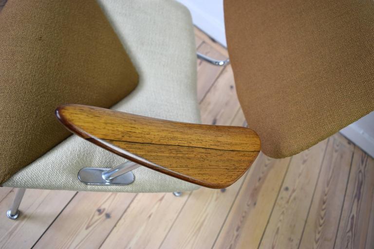 Wool Danish Studio Chair by Vermund Larsen, 1961 For Sale