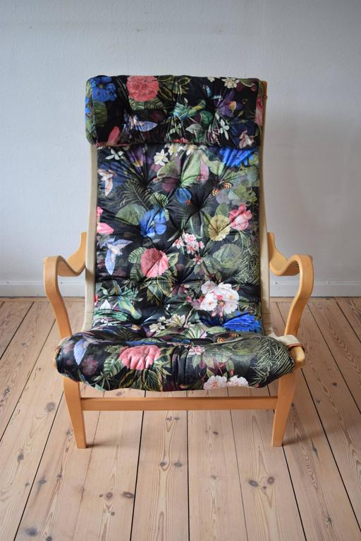 Beech Bruno Mathsson Pernilla Chair by DUX For Sale
