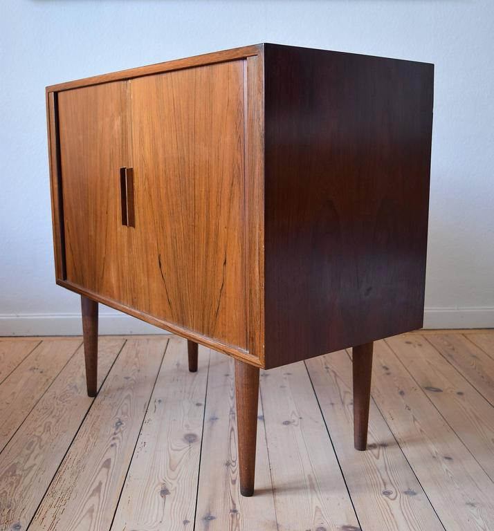 Superieur Mid Century Modern Kai Kristiansen Rosewood Cabinet With Tambour Doors, FM  Møbler, 1960