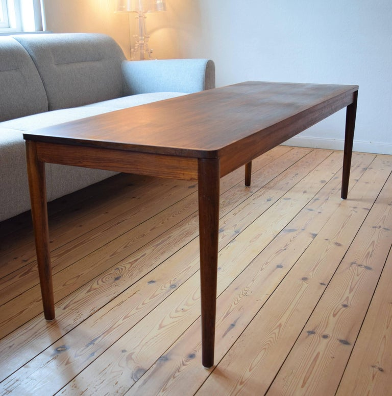 Mid-Century Modern Brazilian Rosewood Coffee Table from Trioh, Denmark, 1960s For Sale