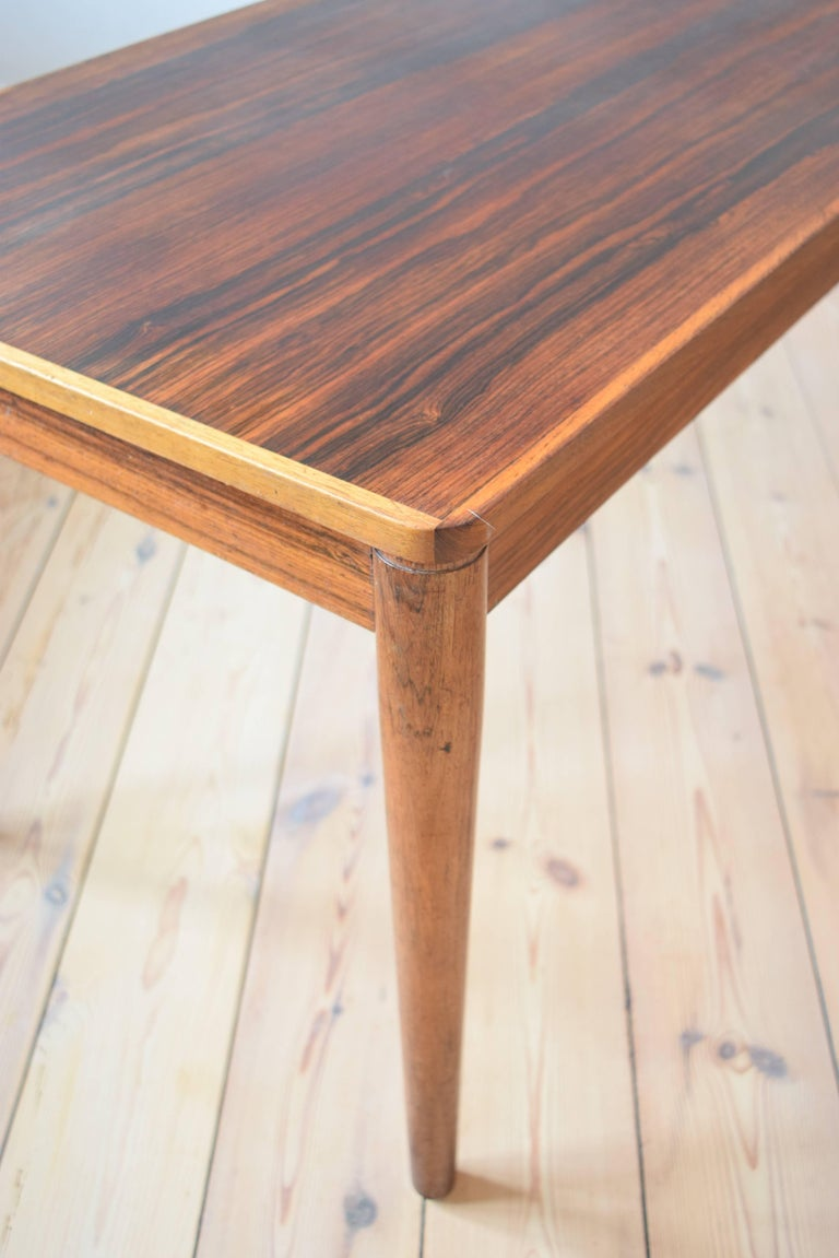 Brazilian Rosewood Coffee Table from Trioh, Denmark, 1960s For Sale 1