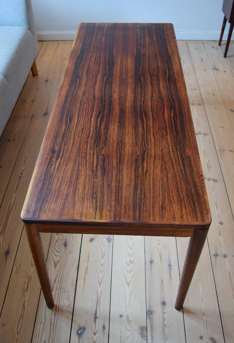 Danish Brazilian Rosewood Coffee Table from Trioh, Denmark, 1960s For Sale