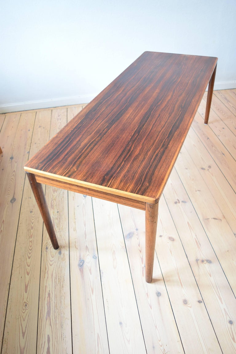 Brazilian Rosewood Coffee Table from Trioh, Denmark, 1960s For Sale 2