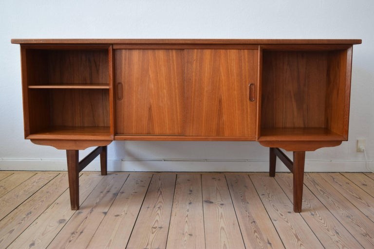 Danish Midcentury Teak Executive Desk, 1960s For Sale 3