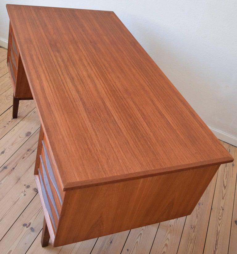 Danish Midcentury Teak Executive Desk, 1960s For Sale 2
