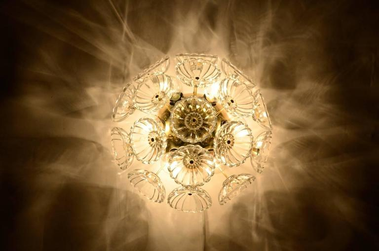 Set of Starbust Sputnik Glass Flower Wall Lights For Sale at 1stdibs