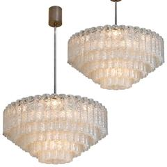 Pair of Doria Giant Ballroom Chandeliers With 130 '+4 Reserve' Blown Glasstubes