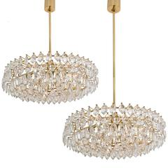 Pair of Very Elegant Chandeliers by Bakalowits and Sohne