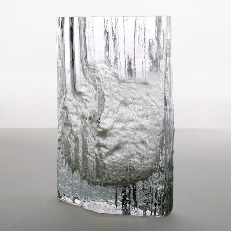 Pair of Tapio Wirkkala for Iittala Ice Glass Vases For Sale 2