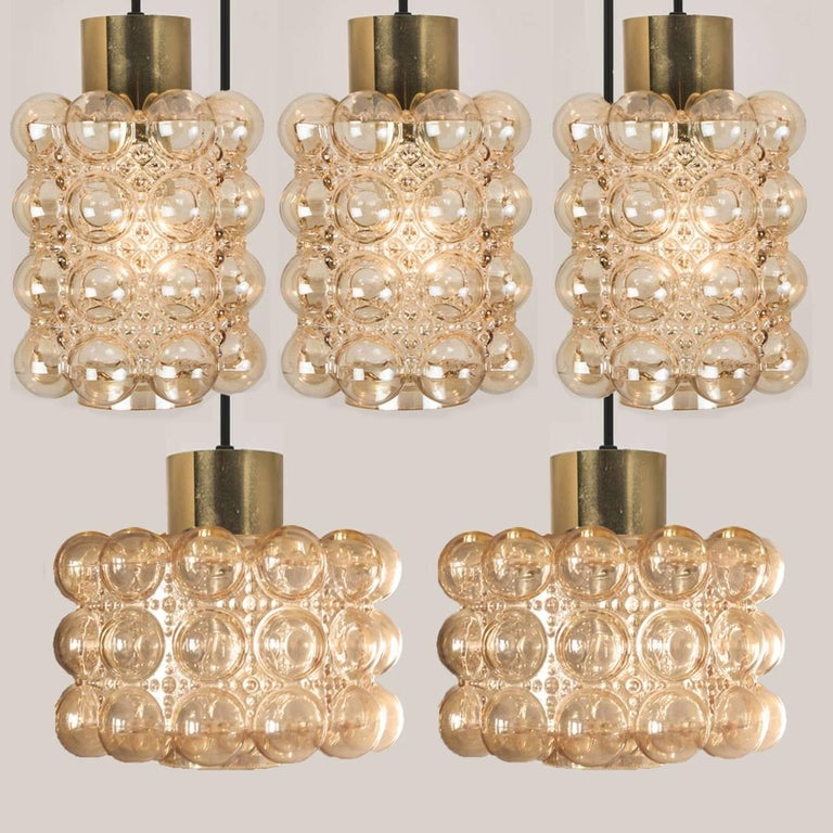large cascade light fixture with seven pedant lights by helena