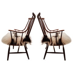 Pair of Large Armchairs Model Grandessa by Lena Larsson for Pastoe/ Nesto, 1959