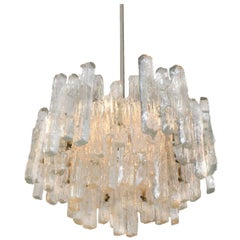 Massive Extra Large Three-Tiered Kalmar Ice Glass Chandelier