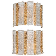 Pair of Gold-Plated Wall Sconces by Kalmar, 1960