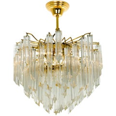 Large Three-Tier Cristal Venini Chandelier, 1960