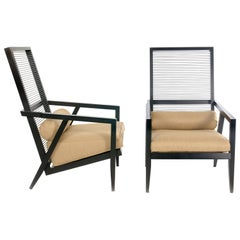 Pierantonio Bonacina, Pair of 'Astoria Hb' Lounge Chairs, 1990s