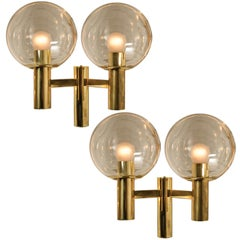 Pair Of Walll Lights the Style of Hans Agne Jacobsson, Schweden, 1960