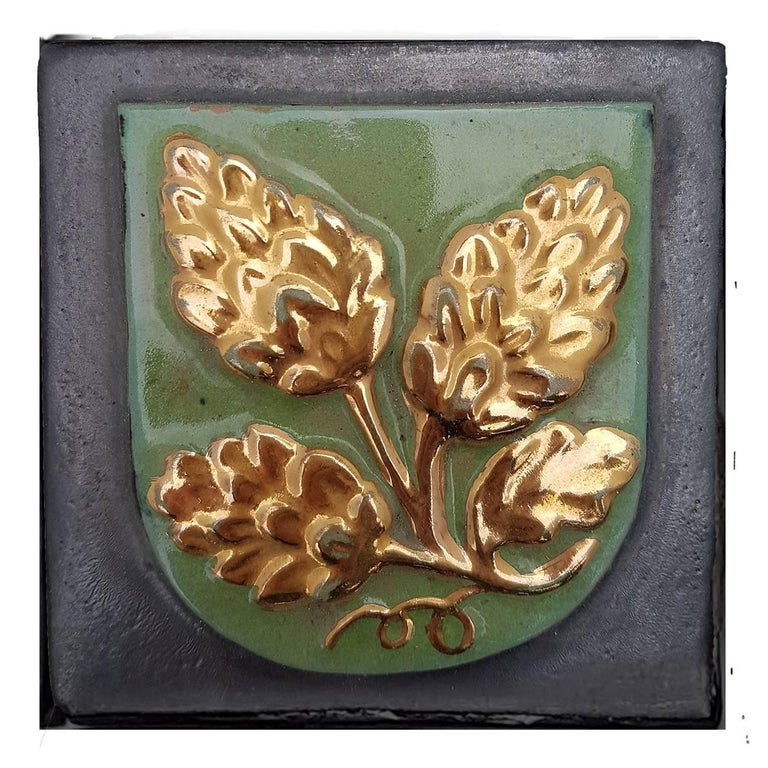 19th Century Set of 25 Authentic Ceramic Relief Fire Place Tiles, France For Sale 1