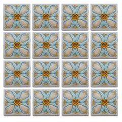 20 Art Deco Relief Tiles by Gilliot, 1930