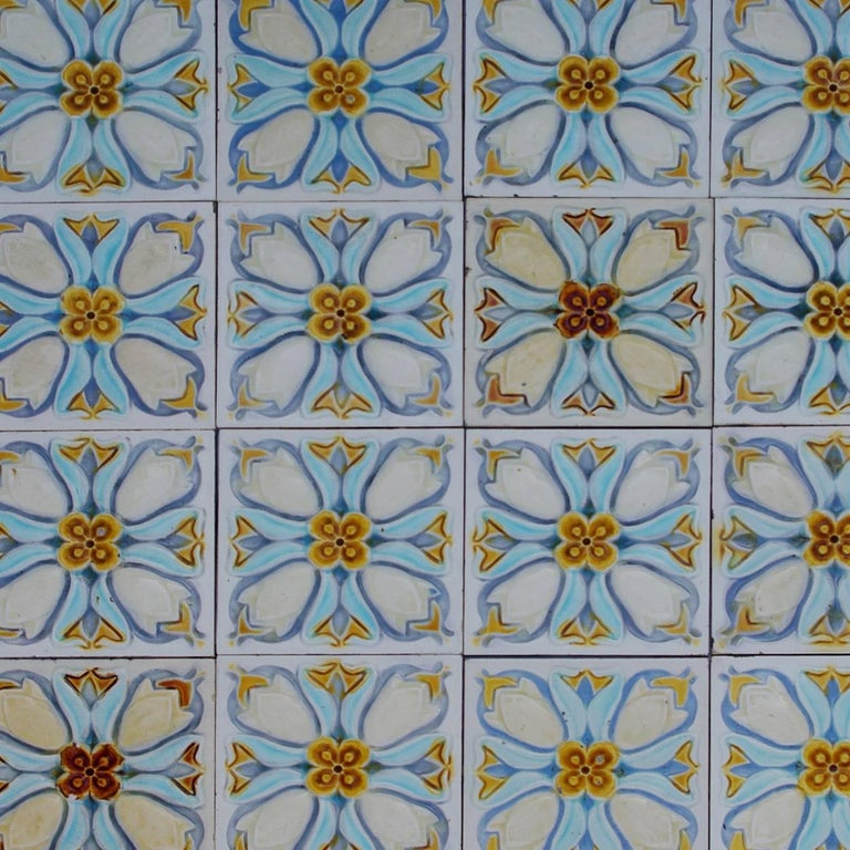 Mid-20th Century 20 Art Deco Relief Tiles by Gilliot, 1930 For Sale