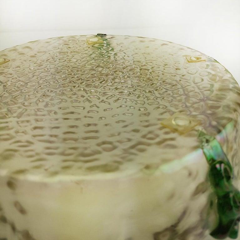 Art Nouveau Kralik Irised Silver Topped Bowl For Sale 1