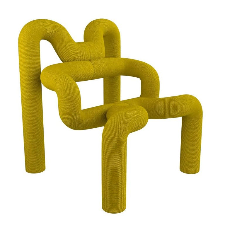 Mid-Century Modern Pair of Iconic Yello Lounge Chairs by Terje Ekstrom, Norway, 1980s For Sale