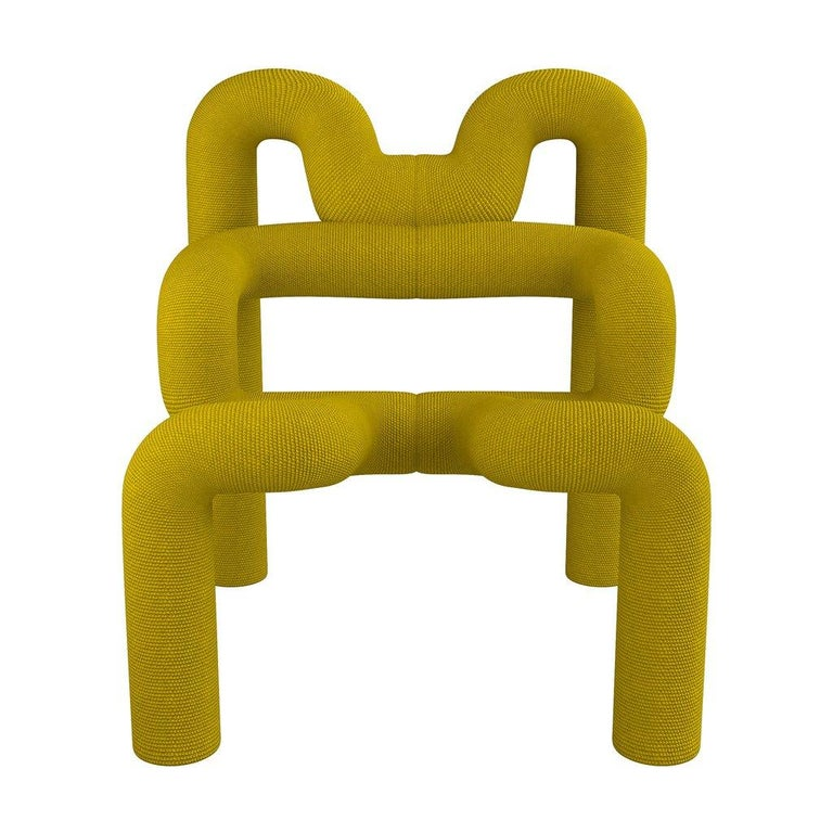 Norwegian Pair of Iconic Yello Lounge Chairs by Terje Ekstrom, Norway, 1980s For Sale