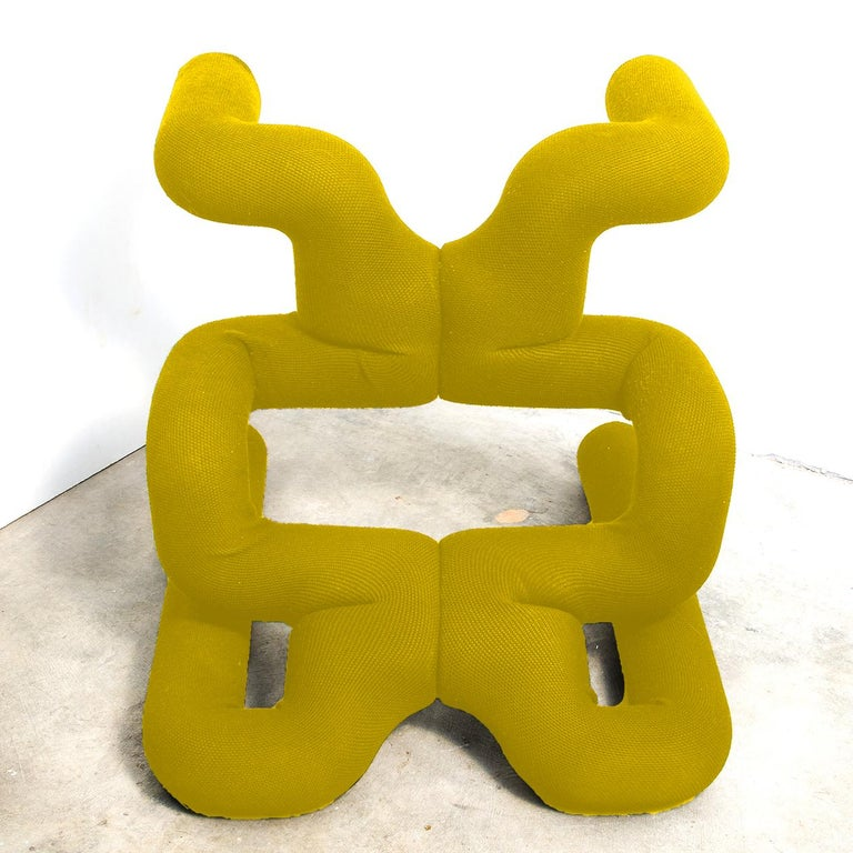 20th Century Pair of Iconic Yello Lounge Chairs by Terje Ekstrom, Norway, 1980s For Sale