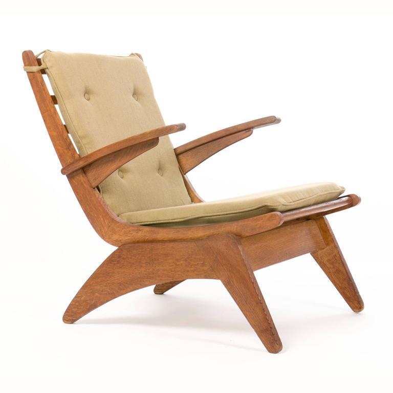 De Stijl Jan Den Drijver, Dutch Modernism Easy Chairs, The Hague, 1940s For