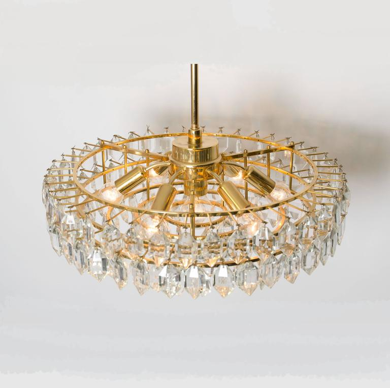 Pair Of Elegant Large Chandeliers By Bakalowits And Sohne
