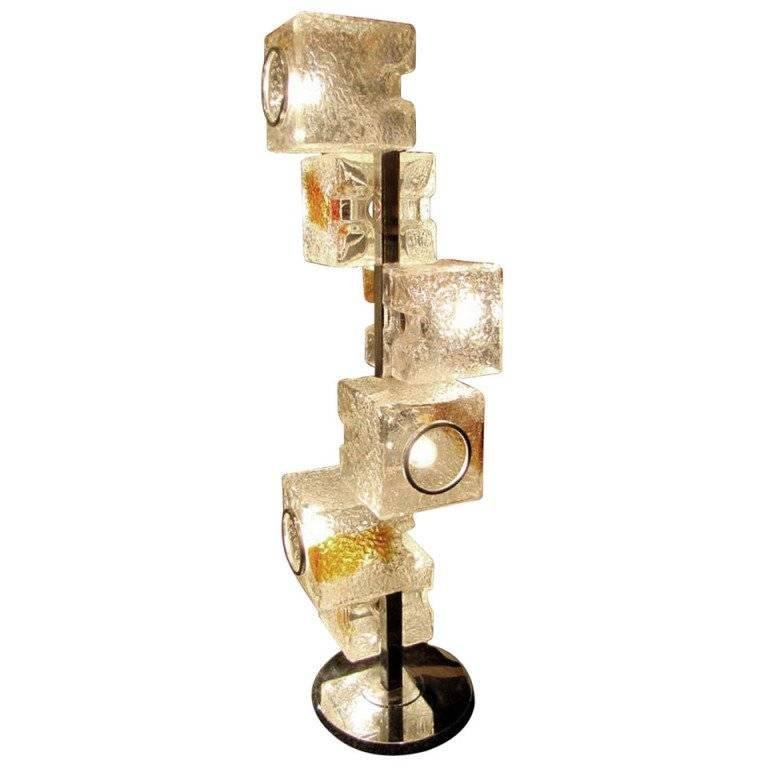 Exceptional Mazzega Sculptural Floor Lamp, Murano, Italy 1970 For Sale