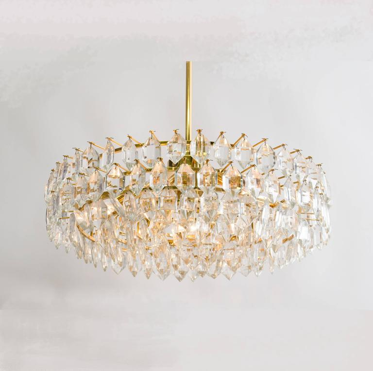 Pair Of Elegant Chandeliers By Bakalowits And Sohne